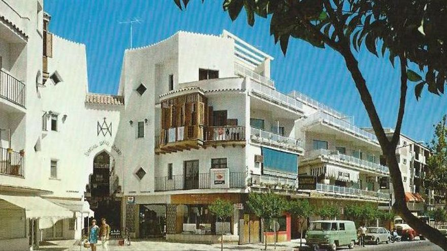 Postal del Pasaje Begoña en los años 60, cedida por el Ayuntamiento de Torremolinos a la Asociación Pasaje Begoña