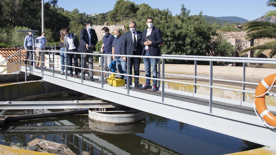 Visita al EDAR de Tales (Castelló) para presentar el proyecto 'Covid Water'.