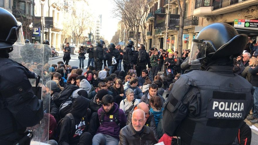 Una protesta ante la Fiscalía Superior de Cataluña en Barcelona febrero de 2019.