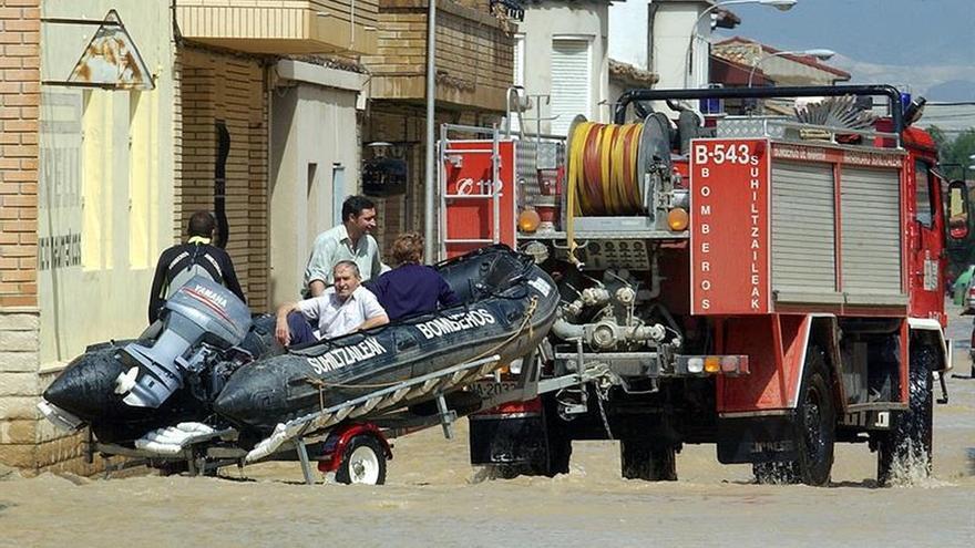 Una fuerte tormenta causa inundaciones y el caos en Calatayud