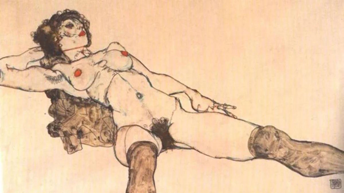 Desnudo femenino de Egon Schiele | PINTEREST