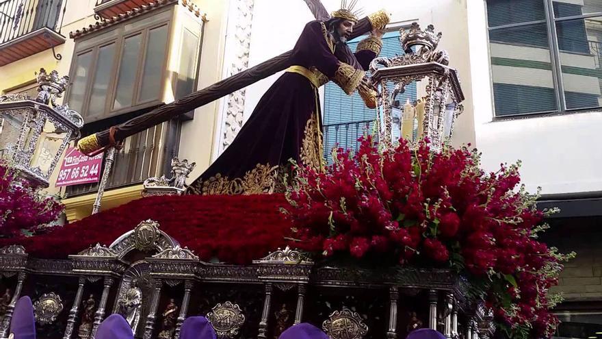 Imagen de Nuestro Padre Jesús Nazareno de Baena en una salida procesional.