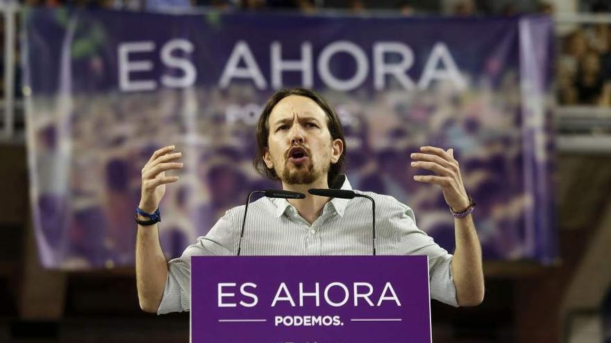 Pablo Iglesias en Alicante, durante la pasada campaña electoral. Fotografía de 20minutos.