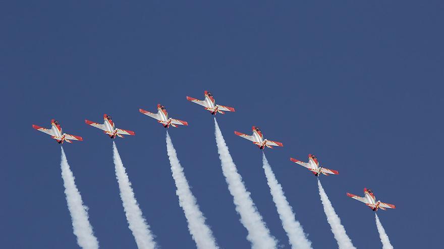 Imagen de la Patrulla Águila, la unidad de vuelo acrobático del Ejército del Aire.