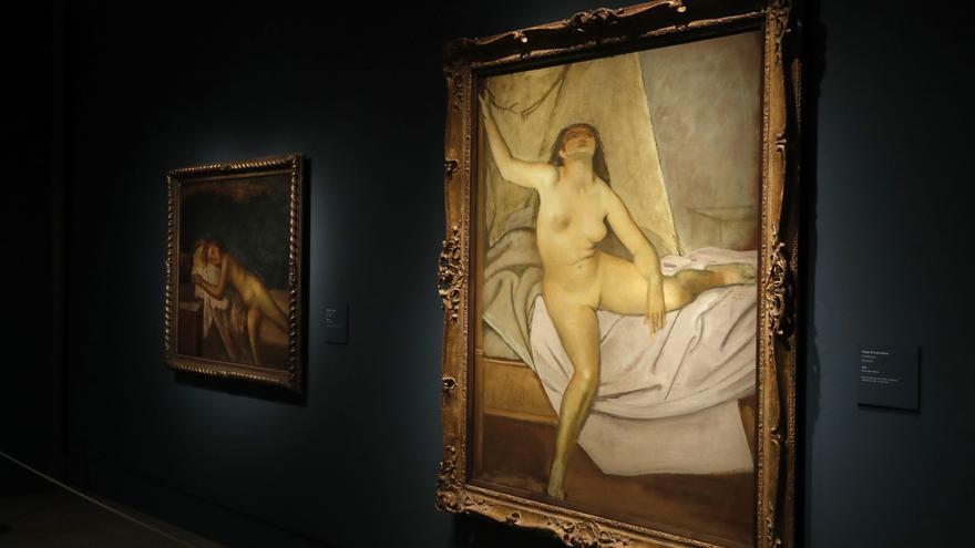 La obra 'Mujer Levantándose' pertenece a la exposición que el Museo Thyssen dedica al pintor francés Klossowski de Rola, conocido como Balthus, uno de los grande artistas del siglo XX.