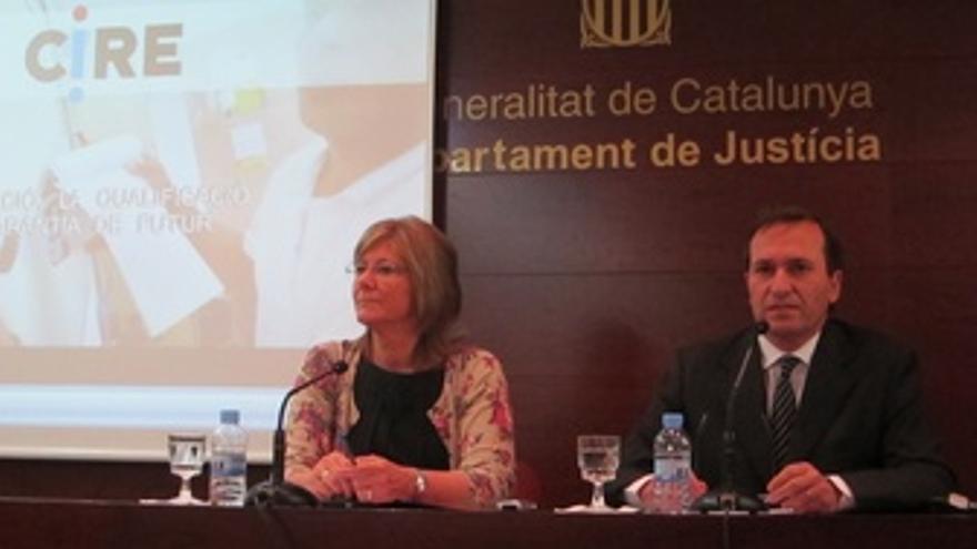 La Consellera De Justicia P.Bozal Y El Director Del Cire, J.M.Faura