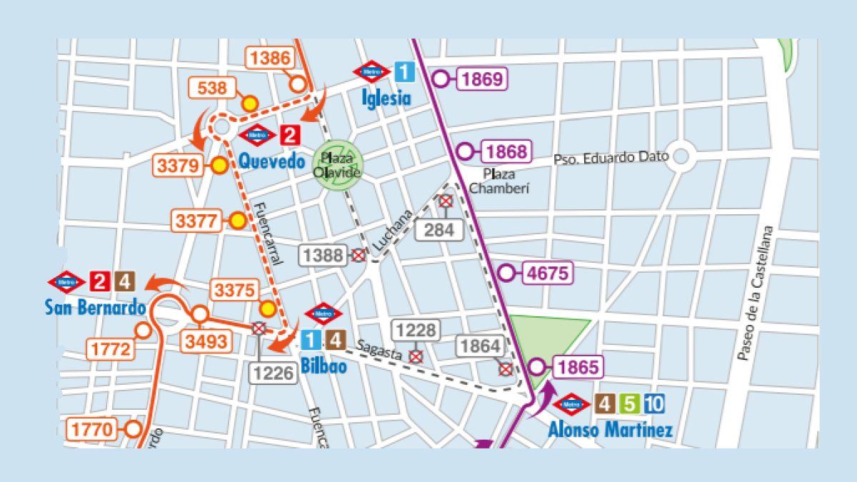 Mapa Lineas Emt Madrid.Los Buses 3 Y 37 De La Emt Dejan De Pasar Por El Tunel De Olavide Y Cambian 13 Paradas Somos Chamberi