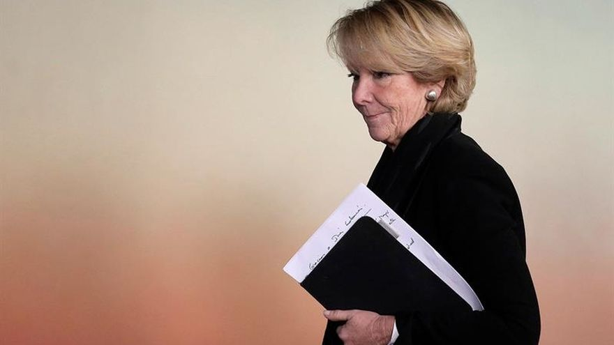 """Aguirre: """"Me consta"""" que todos los actos del PP se han financiado legalmente"""