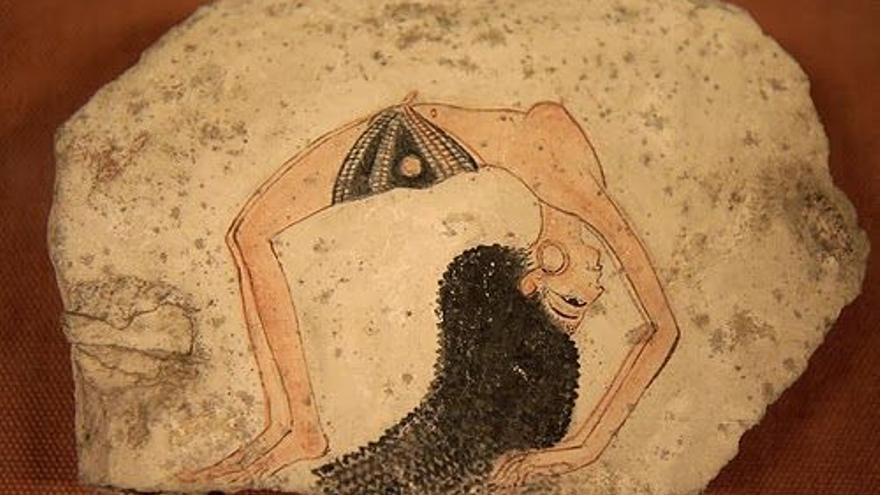 El famoso Astracón de la Bailarina, una de las piezas maestras que se encontraron en Deir el Medina. Museo de Turín