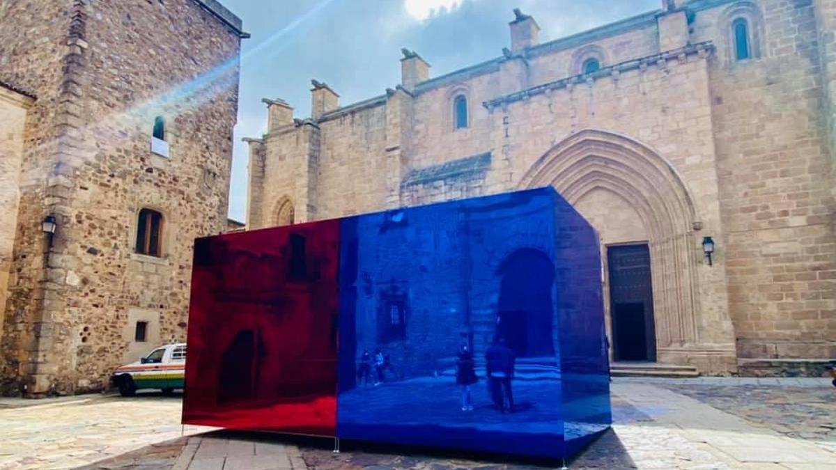 Cáceres Abierto cuenta con 12 intervenciones que incluyen 9 piezas urbanas ubicadas en distintos espacios de la ciudad.