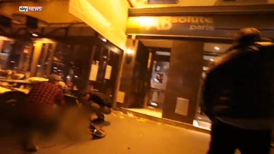 Imágenes tras uno de los atentados de París