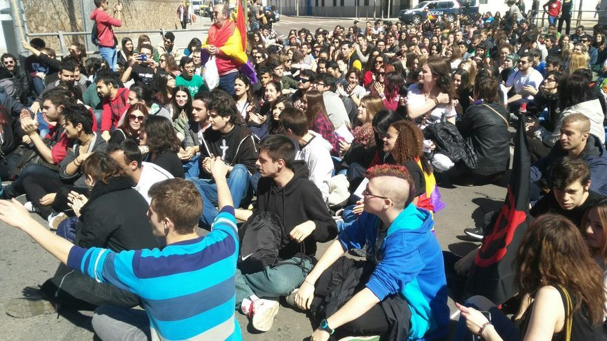 Huelga de estudiantes en Ciudad Real