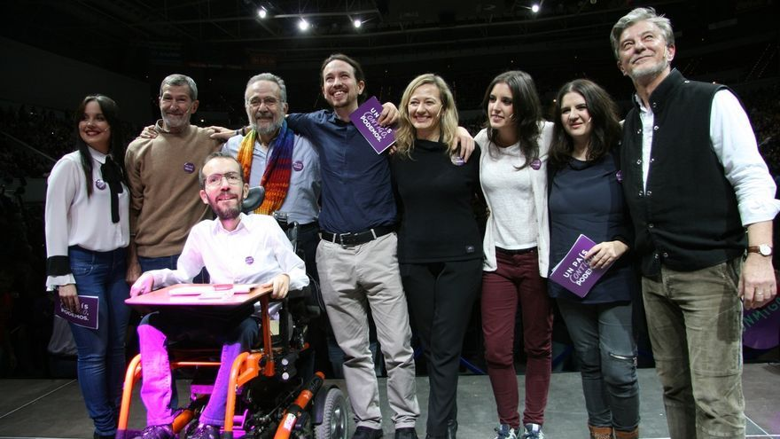 """Echenique (Podemos) critica que """"algunos"""" se aferren """"a las siglas"""" y recalca que """"esto va de gente corriente"""""""