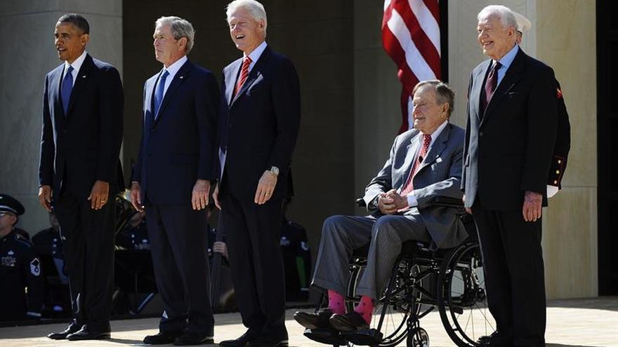 Los expresidentes vivos de EE.UU. organizan un concierto en favor de las víctimas de los huracanes