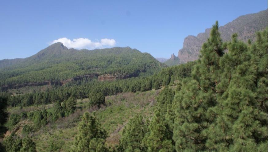 Benehauno y el Paso de Adamancasis (La Cumbrecita) desde Las Cuevas.