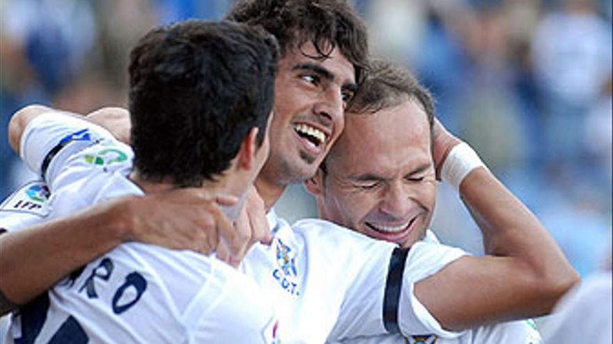 La alegría de los blanquiazules se apagó tras los dos goles del Málaga que lograron empatar el partido de este sábado. (ACFI PRESS)