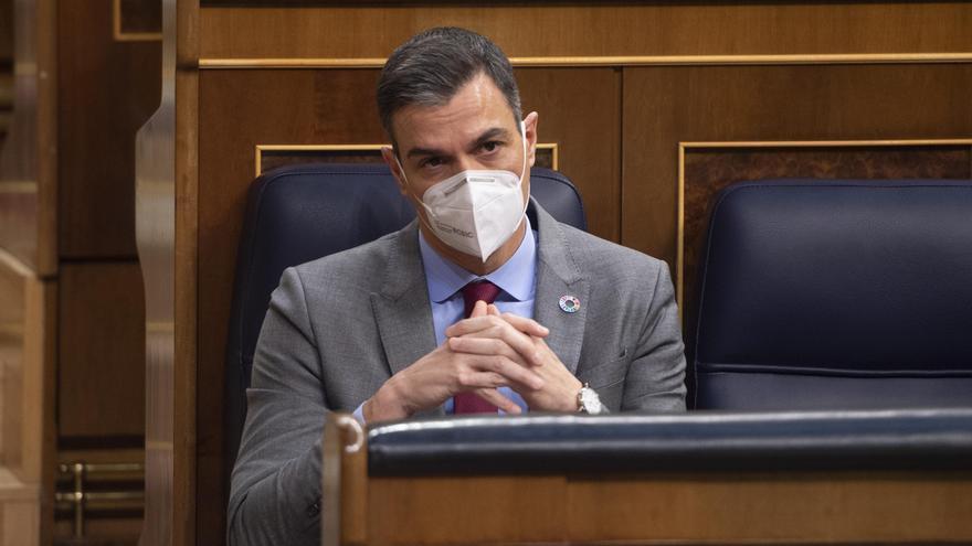 El presidente del Gobierno, Pedro Sánchez, durante una sesión plenaria en el Congreso de los Diputados