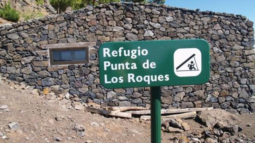 El refugio de Punta de Los Roques está ubicado a 2.040 metros de altura. Foto: Reserva Mundial de la Biosfera La Palma.