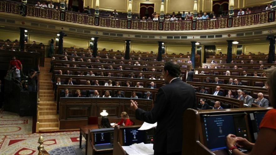 El pleno del Congreso durante el debate previo a la votación que aprobó la reforma constitucional de verano de 2011