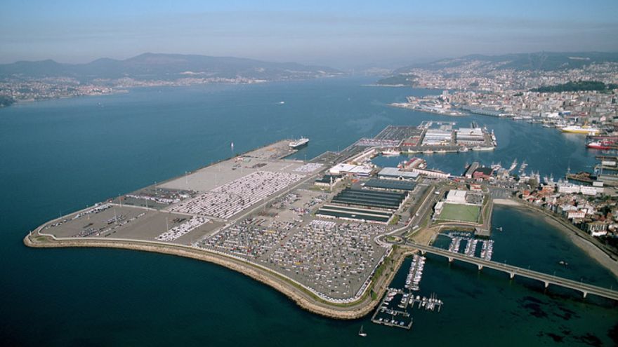 Vista del actual relleno de Bouzas, en el puerto de Vigo, que se quiere ampliar en otros 90.000 metros cuadrados