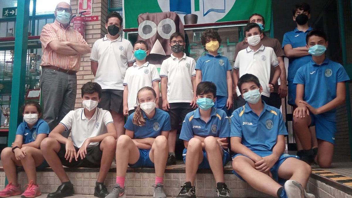 Alumnos del colegio Séneca.