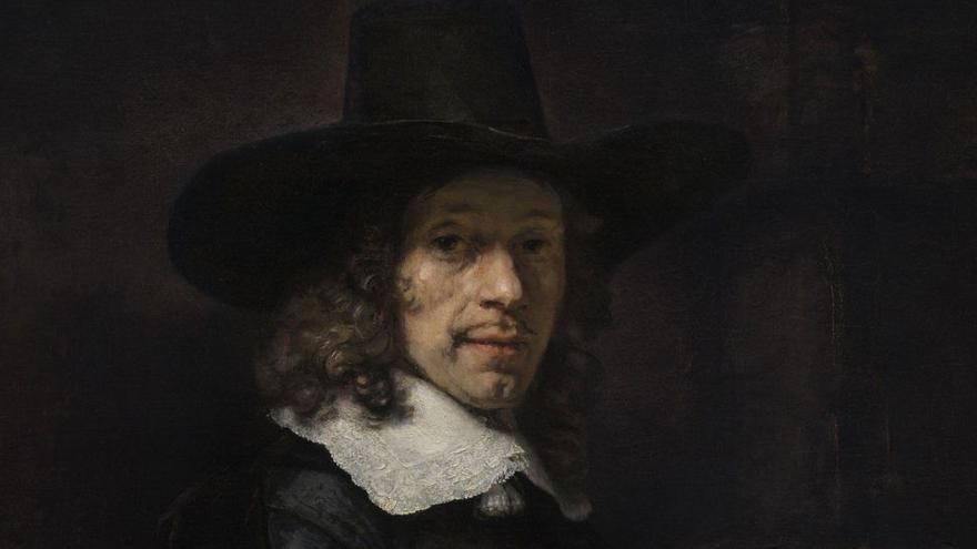 'Retrato de un caballero con sombrero y guantes', de Rembrandt. Washington, National Gallery of Art, Widener Collection