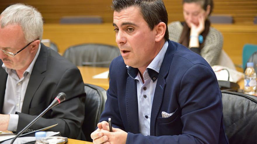Toni Subiela (Ciudadanos) en la comisión parlamentaria sobre la nueva televisión