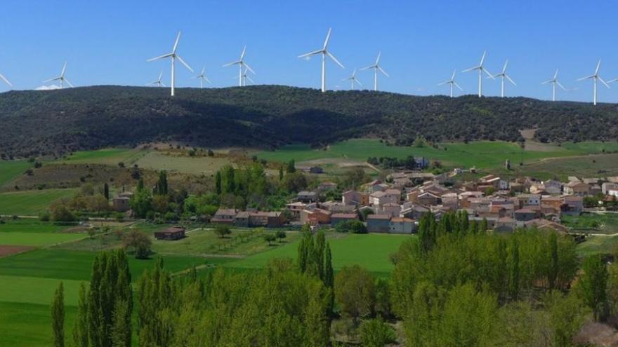 Complejo eólico de Sierrazuela cerca de Húermeces del Cerro