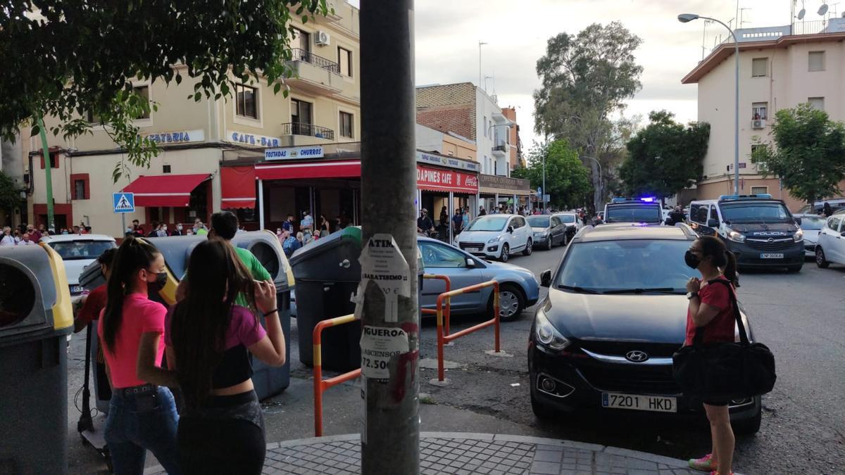 Calles cortadas por la Policía Nacional durante la intervención