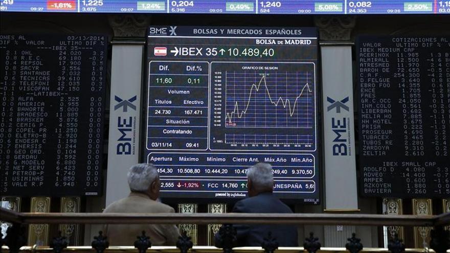 El IBEX sube un 0,21 por ciento y se queda a las puertas de los 10.200 puntos