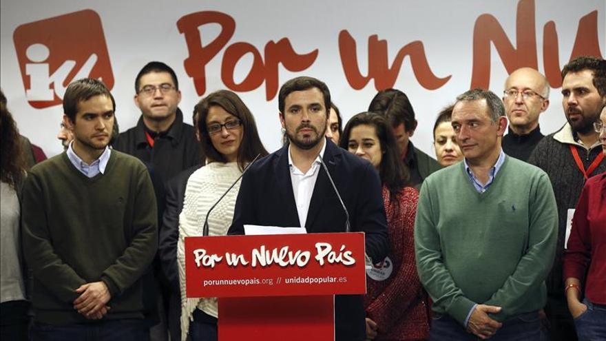 Alberto Garzón valora los resultados del 20D. / Efe