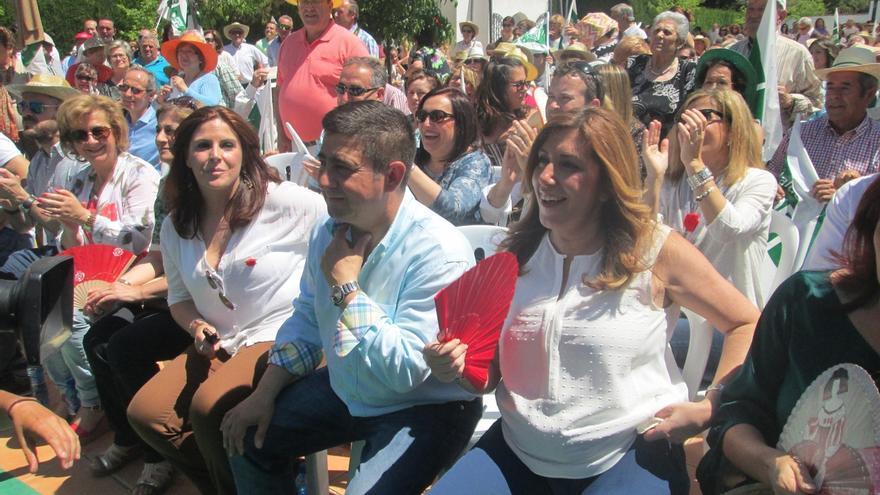 """Díaz anima a los candidatos socialistas a ganar para dar a Andalucía """"los mejores años"""""""