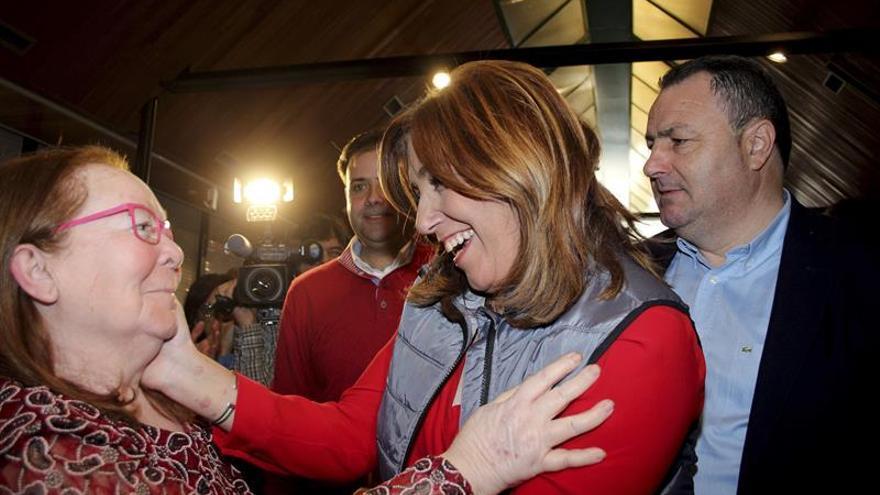 La presidenta andaluza, Susana Díaz, en un acto en León hace unas semanas.