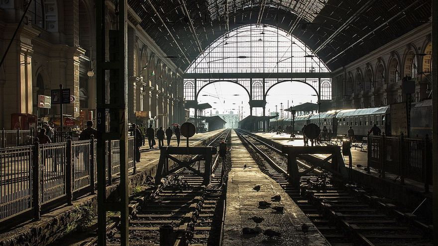 Estación Budapest Keleti, Budapest, Hungría. Foto Németh Tibor, CC BY-SA