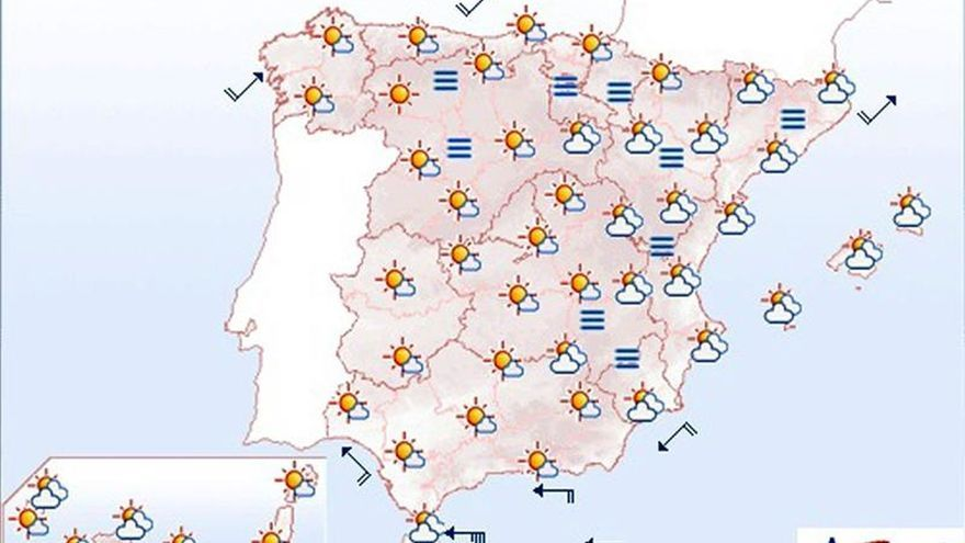 Mañana bajan las temperaturas salvo en puntos de Galicia y litoral cantábrico