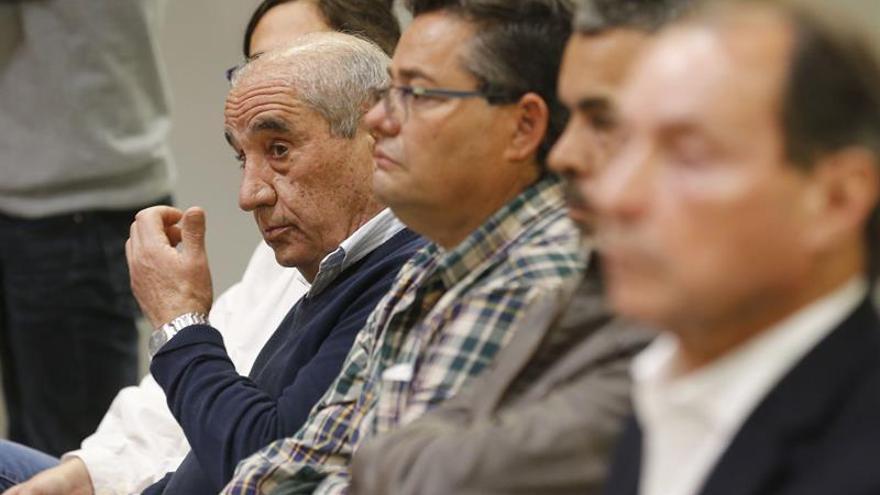 El fundador del PIL, Dimas Martín, durante la lectura de la petición de condena a los implicados en el caso Unión por parte del Ministerio Fiscal este jueves en la Audiencia Provincial de Las Palmas.
