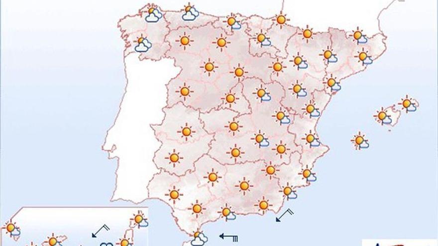 Mañana bajan los termómetros en el área cantábrica y suben en puntos de Canarias