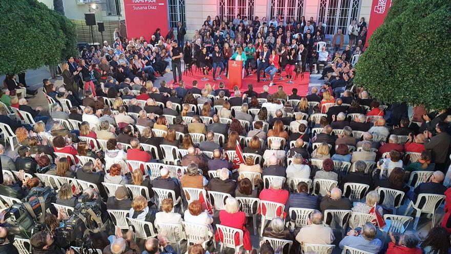 Susana Díaz interviene en el acto de primarias del PSOE en Xàtiva