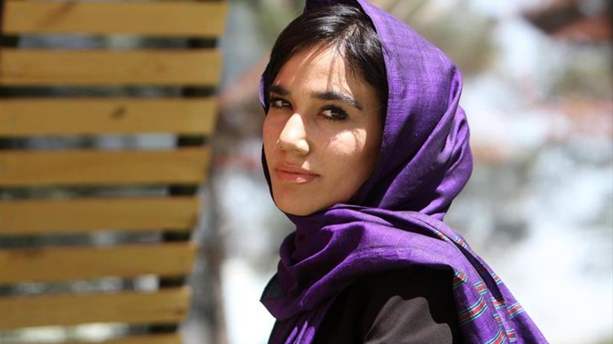 Laleh Osmani, the initiator of the campaign 'where is my name' for Afghan women