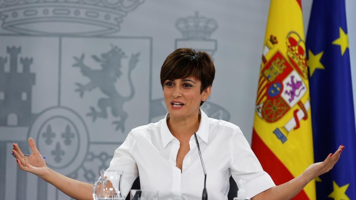 La ministrade Política Territorial yportavozdel Gobierno, Isabel Rodríguez