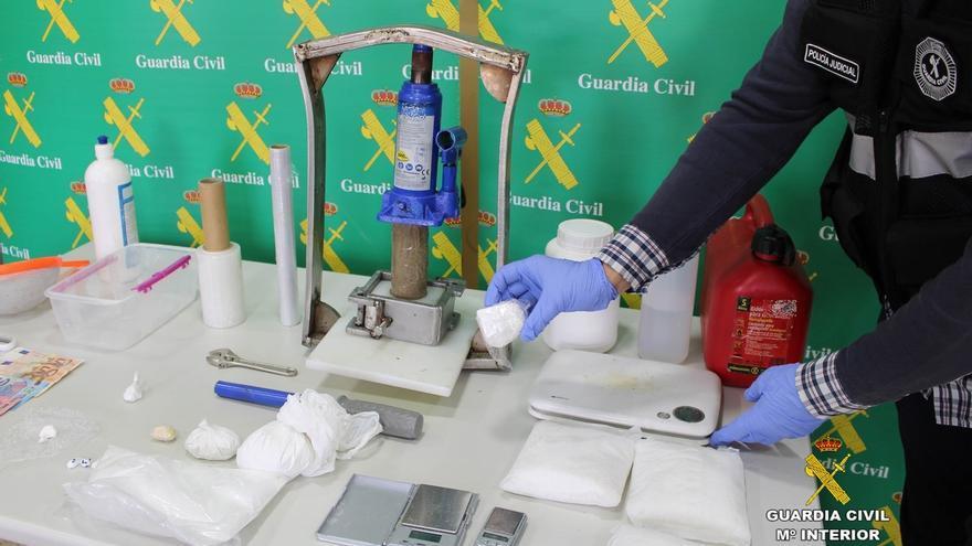Desmantelado en Santander un laboratorio de corte y adulteración de cocaína