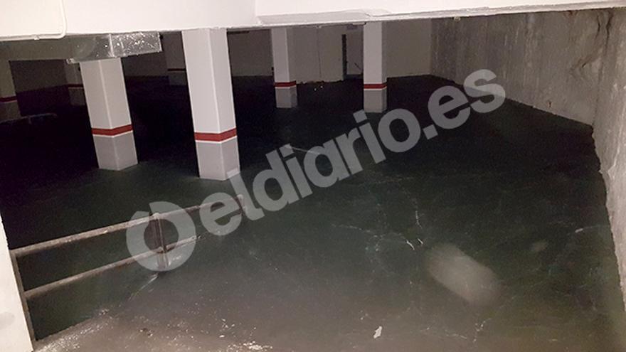 El garaje inundado. El sorteo valoraba la plaza en 21.000 euros