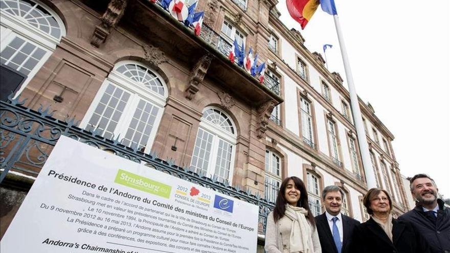 La bandera andorrana ondea en Estrasburgo por la presidencia del Consejo de Europa