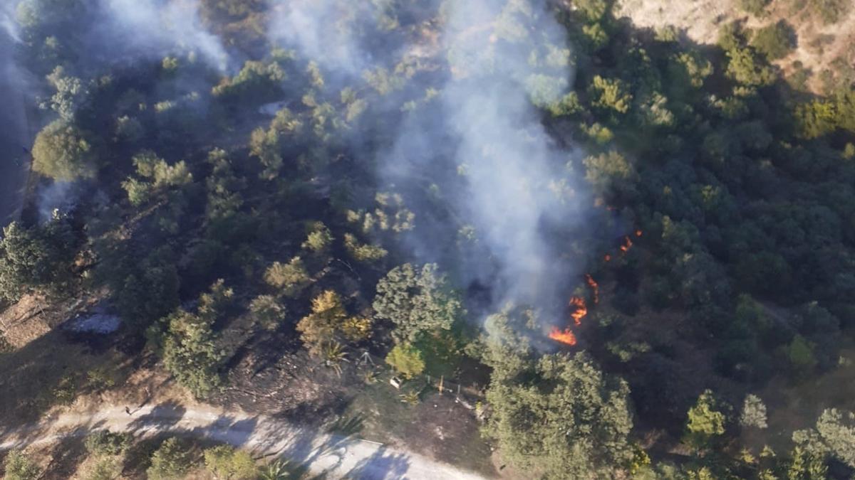 Imágenes del incendio en Almodóvar