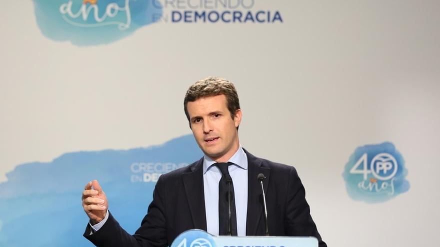 """1-O-. Casado pide """"coherencia"""" a Podemos porque se queja de haber sufrido un escrache pero """"aplaude"""" los del PP"""