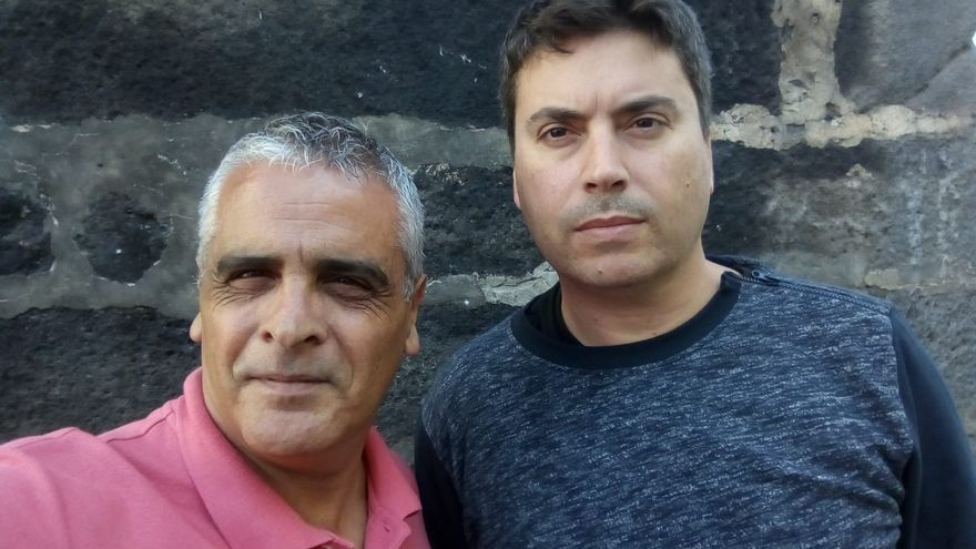 Santiago Jorge (i) y Miguel Ángel Martín.