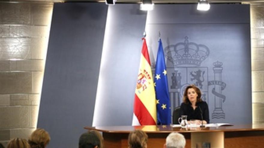 Vicepresidenta Del Gobierno, Soraya Sáenz De Santamaría En La RDP Del Consejo
