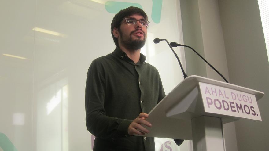 """Martínez (Podemos) anuncia la apertura """"de una vía de negociación"""" de los Presupuestos al haber """"margen suficiente"""""""