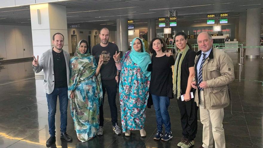 Integrantes del grupo Parlamentario de Paz y Libertad para el Pueblo Saharaui