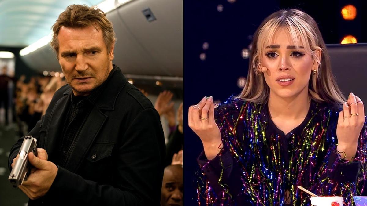 Liam Neeson en 'Non-Stop' / Danna Paola en 'Top Star'